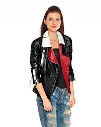 biker jacket two tone leather biker jacket for women at leatherright