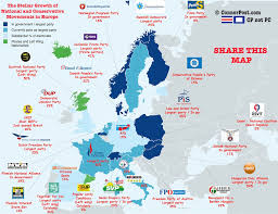European World Map by Map The Stellar Rise Of Europe U0027s Populist Parties