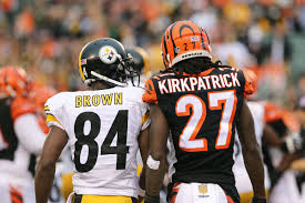 Steel Curtain Football Antonio Brown Puts Steelers Bengals Rivalry Aside To Help Dre
