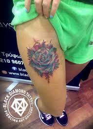 black diamond tattoo glyfada watercolor black diamond tattoo
