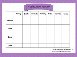 free printable weekly planner template free weekly menu planner template