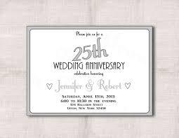 25th wedding anniversary invitations 25th wedding anniversary invitation templates wedding