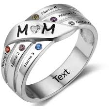 mothers rings with 4 stones 6 personalized s birthstone ring for think engraved