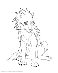 husky wolf lineart by sucrotine on deviantart