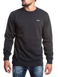 vans sweater s clothing mn basics crew sweatshirt in black