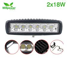 6 inch light bar 2 pack straight single row 6 inch 18w led light bar spot flood 12