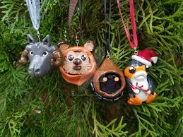 wars tauntaun ewok jawa and porg ornament by tallgrassart
