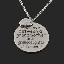 grandmother and granddaughter necklaces the between a grandmother and granddaughter is forever