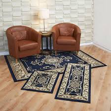 Karolus Area Rug Blue And Brown Round Area Rugs Creative Rugs Decoration