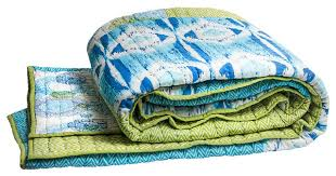 Twin Quilts And Coverlets Medallion Coverlet Blue Green Contemporary Quilts And Quilt