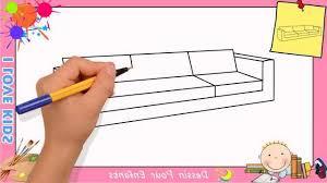 comment dessiner un canapé comment dessiner un canapé facilement etape par etape pour enfants
