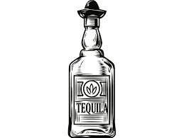 cocktail svg alcohol bottle 8 tequila liquor sombrero drink drinking