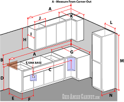 how to measure corner cabinets ohio amish cabinet amish made cabinetry