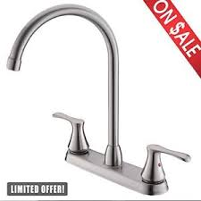 Widespread Kitchen Faucet Comllen Commercial Two Handle Brushed Nickel Widespread Kitchen