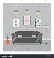 home interior living room lounge design stock vector 728013442