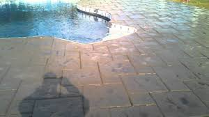 stamped concrete pool deck youtube