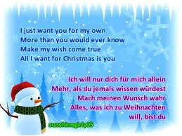 miley cyrus all i want for christmas is you lyrics german
