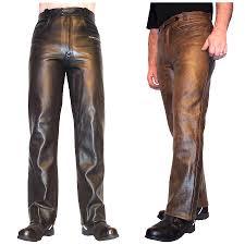 Men U0027s Leather Motorcycle Jeans