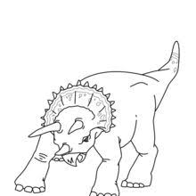 triceratops coloring pages hellokids