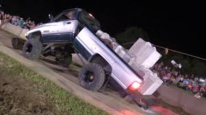 monster trucks videos in mud when tugs of war attack dodge ram 2500 mud truck folds in half in