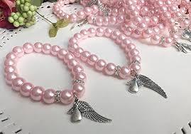 pink pearls bracelet images 12 pink crystal pearls bracelets for baptism favors jpg