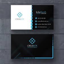 visitenkarten design kostenlos blau minimal visitenkarte vorlage der kostenlosen psd