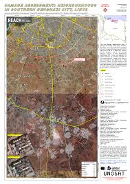 Map Of Benghazi Damage Assessment Neighborhoods In Southern Benghazi City Libya