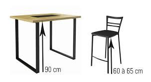 table de cuisine hauteur 90 cm fascinant table hauteur 90 cm enchanteur cuisine et inspirations