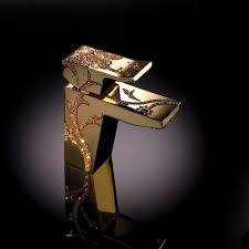 2017 high end european style brass golden bathroom faucet marble