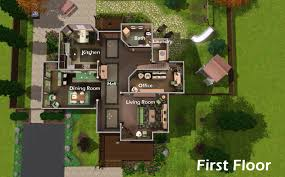 Modern House Floor Plan Home Design Modern House Floor Plans Sims 3 Beach Style Compact