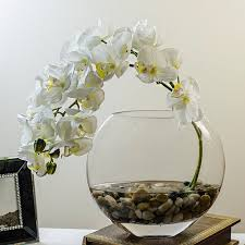 faux orchids orchid arrangement with silk orchid plant faux artificial white