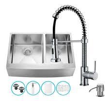 kitchen sink faucet set vigo stainless steel all in one undermount double bowl kitchen sink