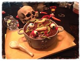 Gross Halloween Cakes by Halloween Cake Dabble Cafe
