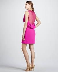diane von furstenberg pandora ruffled sheer back dress