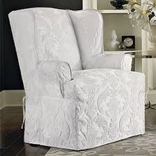 Grey Slipcover Chair Wing Chair Slipcovers You U0027ll Love Wayfair