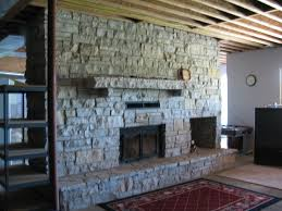decoration large fireplaces with stone material
