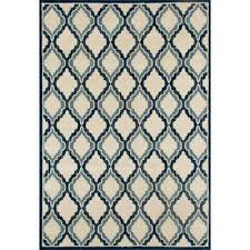Peacock Blue Area Rug Trellis 7 X 9 Area Rugs Rugs The Home Depot