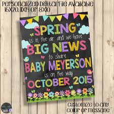 thanksgiving baby announcement ideas spring pregnancy announcement sign chalkboard baby poster spring