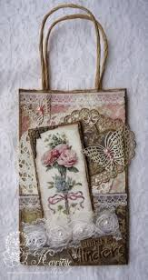 Shabby Chic Gift Bags by 6002 0480 Noor Design Blauw Vierkant Scrapbooking Joy Crafts