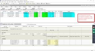 construction bidding and estimation software on center software product screen shot