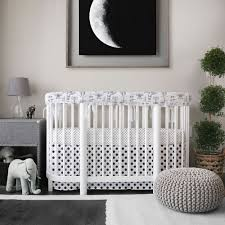 Oval Crib Bedding Oval Nursery In Monochrome Featuring Our New Prints With Our New