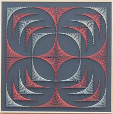 geometrical string art handmade home decor wall art string art jpg