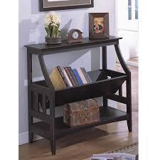 antique black three shelf solid wood bookshelf free shipping