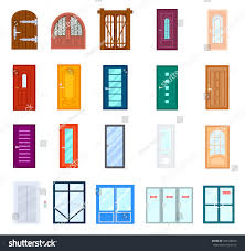 entrance door icon isolated on white stock vector 552538648
