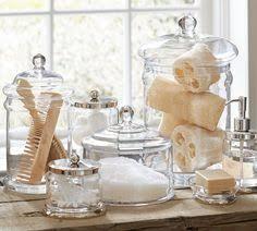 Bathroom Glass Storage Jars Pin By Glenda Severn On House Pinterest Bath Accessories Soap