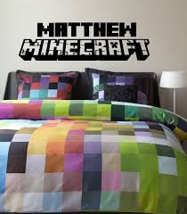 Minecraft Bedding For Kids Wall Decal Design Best Awesome Themed Gaming Minecraft Vinyl Wall
