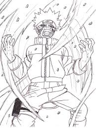 naruto tailed fox coloring pages glum