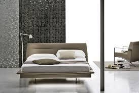 double bed minimalist design fabric upholstered panarea