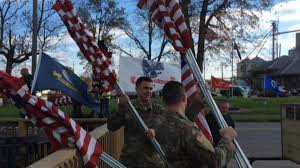 Indiana Flags At Half Staff Photos Volunteers In Connersville Line Roadways With 550 Flags In