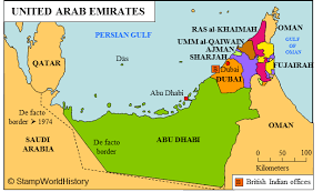 uae map uae states map travel maps and major tourist attractions maps